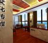 郑州万达中心中式古典办公-君子兰装饰