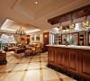 该美式风格的设计重点是强调优雅的雕刻和舒适的设计,再保留了古典家具的色泽和质感的同时,又注意适应现代生活空间。