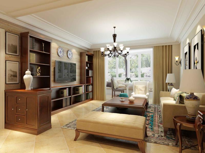 欧式 跃层 客厅图片来自今朝装饰张智慧在轻奢简欧美丽园四口之家的分享