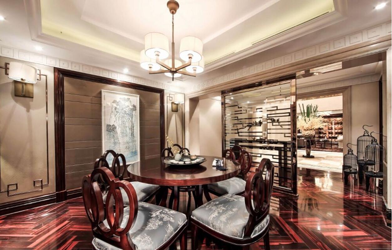 公寓 古典 新式 餐厅图片来自张勇高级室内设计师在泛海国际新古典精品设计案例效果的分享