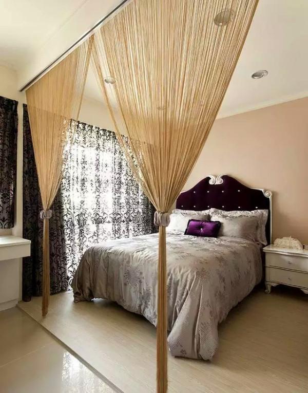 由于面积较小,卧室的话就设计简洁明了;