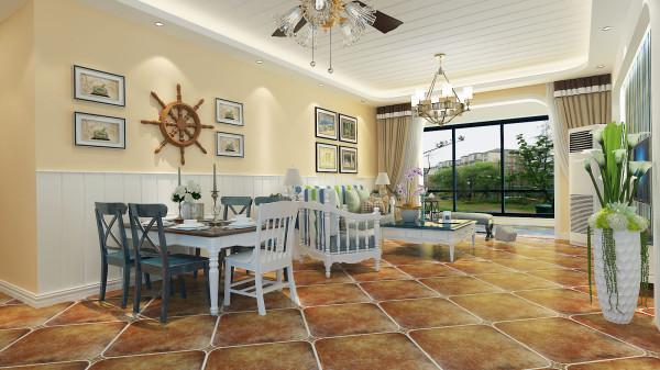 锦棠120平美式风格设计-君子兰装饰 美式客餐厅