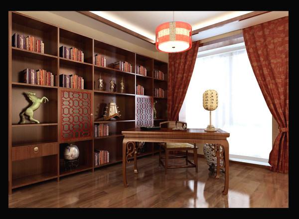 生活家装饰--石门东路小区180平米新中式风格书房装修效果图