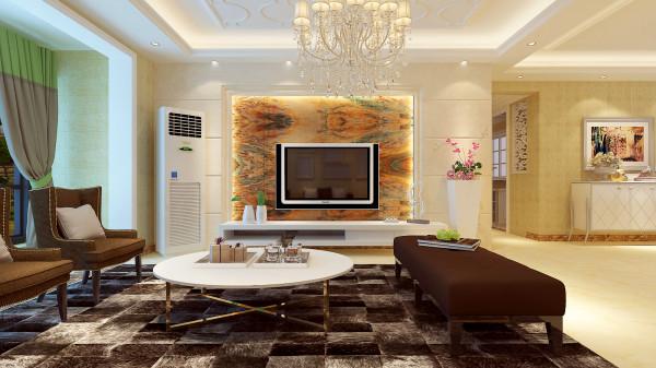 如意花园140平混搭风格-君子兰装饰 电视背景墙效果