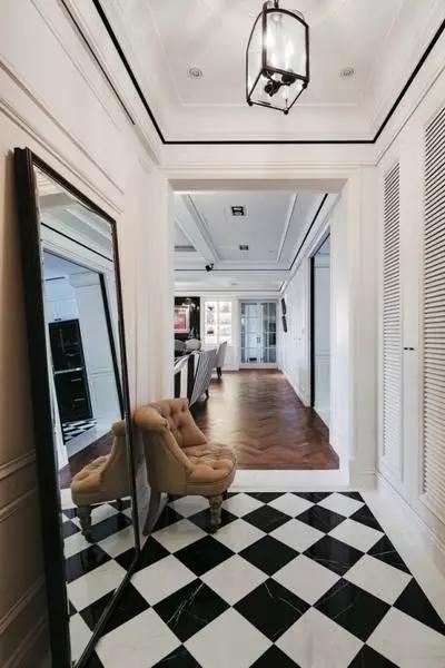 四居 美式 新古典 收纳 豪华 客厅 卧室 书房 卫生间 玄关图片来自实创装饰晶晶在155㎡美式古典,黑与白的浪漫邂逅的分享