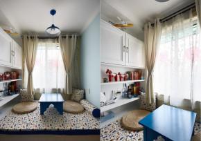 二居 地中海 收纳 80后 白领 书房图片来自武汉苹果装饰在猫舍—地中海雅居的分享