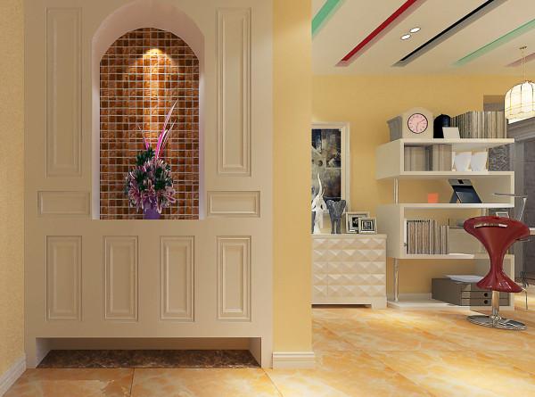 如意花园140平现代简约设计-君子兰装饰 入户玄关