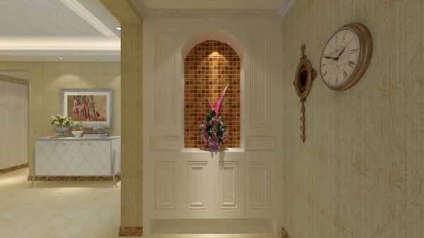 如意花园140平混搭风格-君子兰装饰 入户玄关