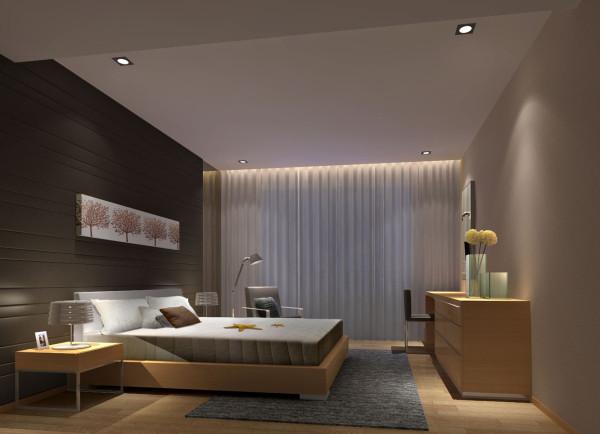 生活家装饰--金色漫香林小区130平米现代风格卧室装修效果图