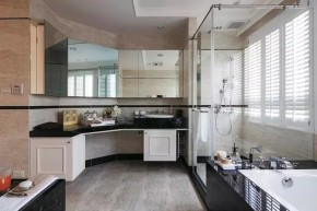四居 美式 新古典 收纳 豪华 客厅 卧室 书房 卫生间 卫生间图片来自实创装饰晶晶在155㎡美式古典,黑与白的浪漫邂逅的分享