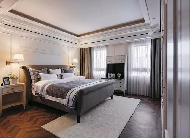 四居 美式 新古典 收纳 豪华 客厅 卧室 书房 卫生间 卧室图片来自实创装饰晶晶在155㎡美式古典,黑与白的浪漫邂逅的分享