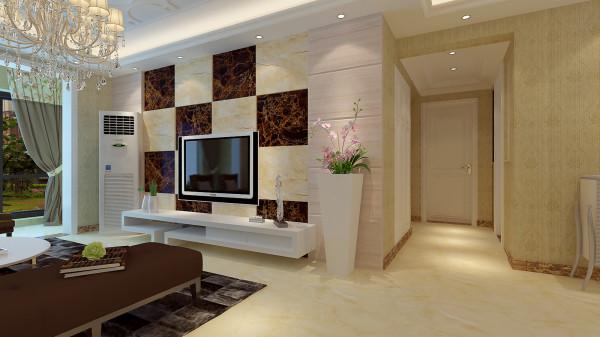 如意花园140平混搭风格-君子兰装饰 电视背景墙