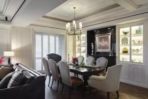 四居 美式 新古典 收纳 豪华 客厅 卧室 书房 卫生间 餐厅图片来自实创装饰晶晶在155㎡美式古典,黑与白的浪漫邂逅的分享
