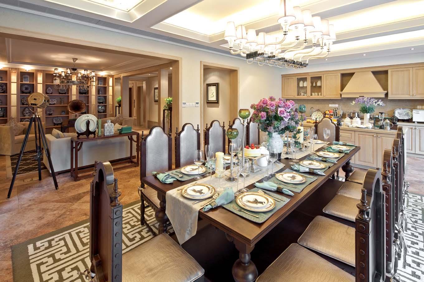 欧式风格 龙湖好望山 别墅 餐厅图片来自一道伍禾装饰设计师杨洋在欧式风格之龙湖好望山的分享