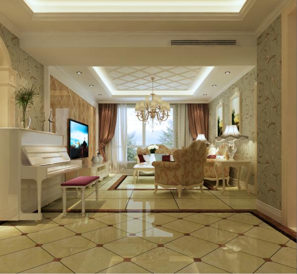 生活家装饰--徜徉集130平米欧式新古典风格客厅装修效果图