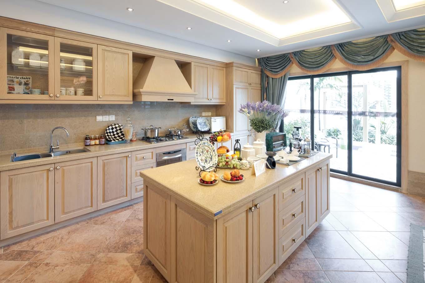 欧式风格 龙湖好望山 别墅 厨房图片来自一道伍禾装饰设计师杨洋在欧式风格之龙湖好望山的分享