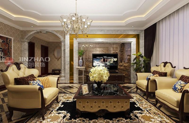 客厅图片来自山西今朝装饰小闫在自由度-147平米欧式风格的分享