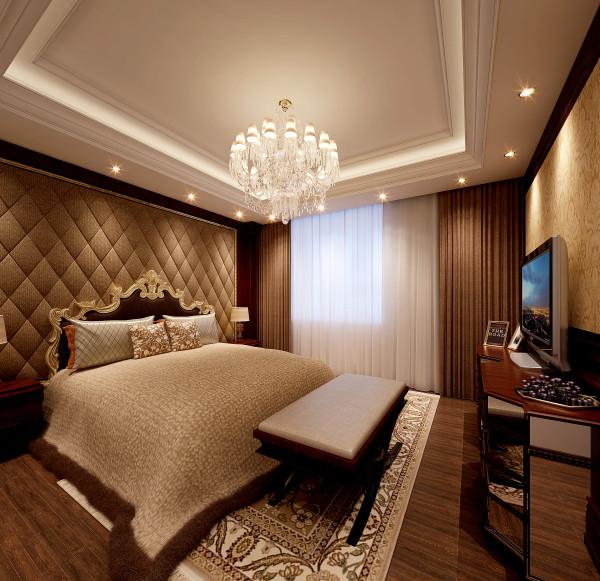 生活家装饰--金地仰山小区135平米欧式新奢华风格主卧装修效果图