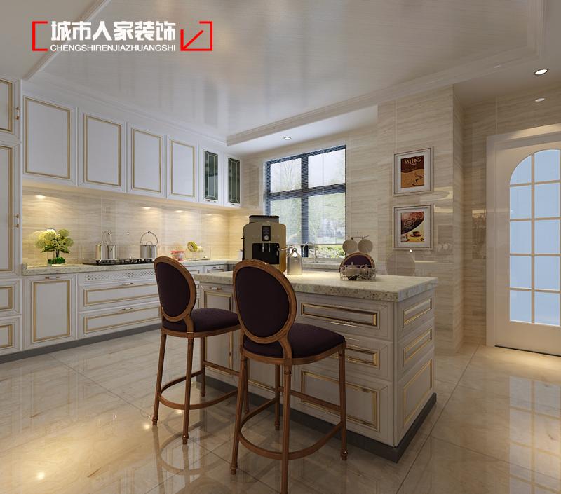 欧式 家装设计 装修公司 厨房图片来自太原城市人家装饰在富丽华庭290平米新古典装修设计的分享
