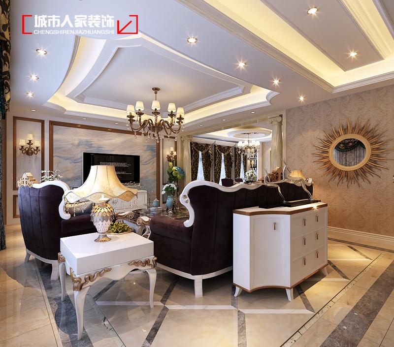 欧式 家装设计 装修公司 客厅图片来自太原城市人家装饰在富丽华庭290平米新古典装修设计的分享
