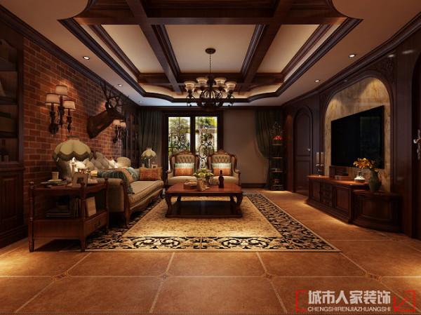 国色天香190㎡托斯卡纳风格 客厅
