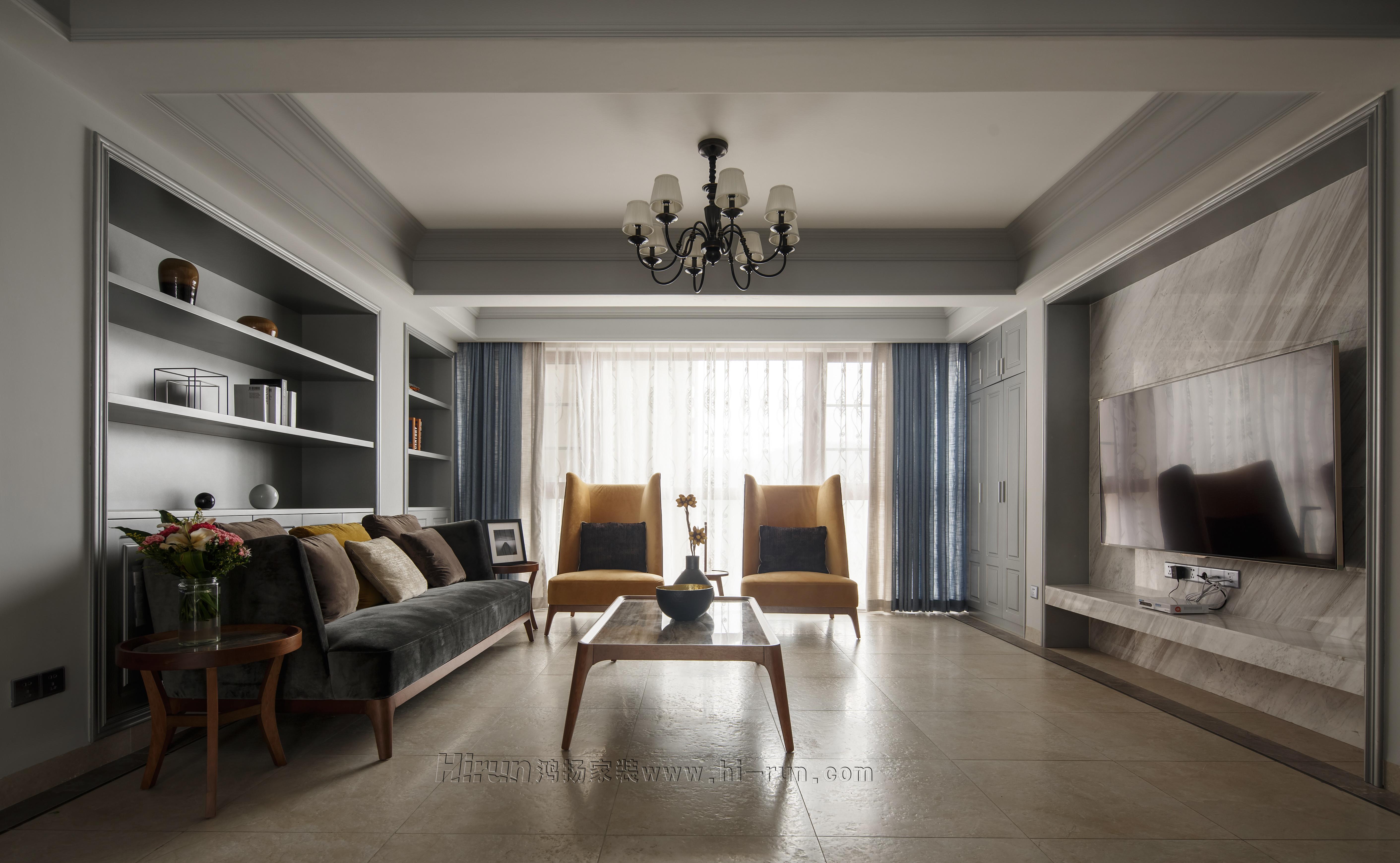 欧式 四居室 白领 收纳 80后 小资 婚房 客厅图片来自鸿扬家装在德峰小区的分享