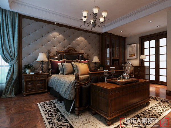 中建国熙台168㎡现代美式风格 卧室效果
