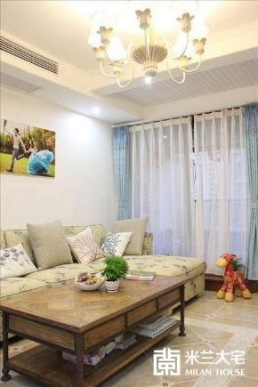 地中海 蓝色 米兰大宅 二居 温馨 烂漫 客厅图片来自米兰大宅设计会所在浪漫地中海的分享