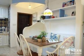 地中海 蓝色 米兰大宅 二居 温馨 烂漫 餐厅图片来自米兰大宅设计会所在浪漫地中海的分享