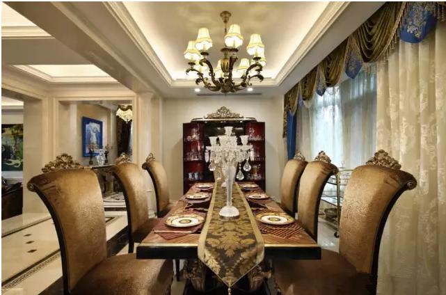 别墅 富力津门湖 新古典 餐厅图片来自天津尚层装修韩政在生活。艺术。家的分享