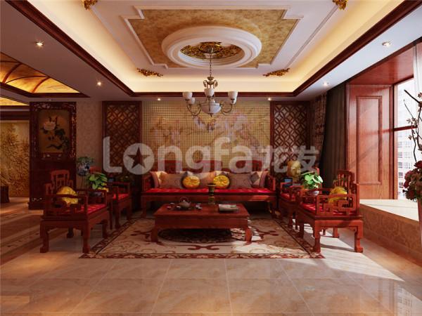 中式座椅沙发的应用搭配,颜色的整体感十足,一股中式韵味油然而生,整个客厅显得十分大气。