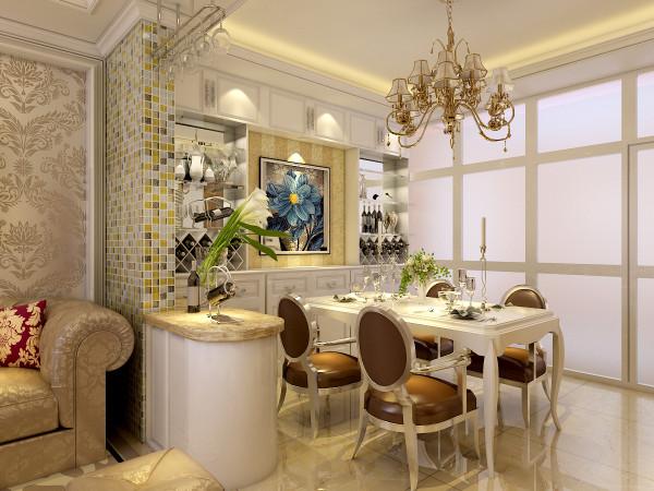 精美的酒柜,小巧的吧台,漂亮且实用