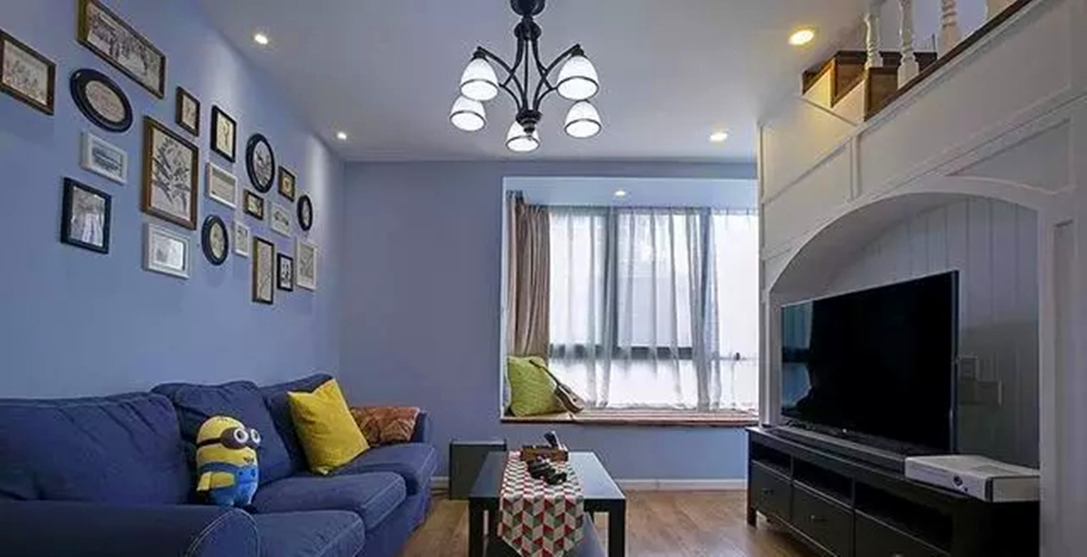 一居 混搭 设计 装修 风格 户型 客厅图片来自高度国际装饰宋增会在美式和地中海,柔和的安静的文艺的分享