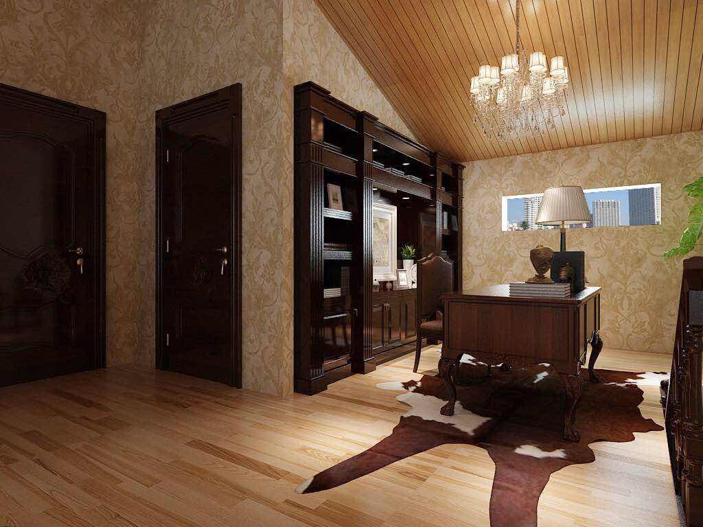 简欧风格 三居室装修 毛坯房设计 欧式装修 书房图片来自小户型装修案例在欧式风格案例的分享