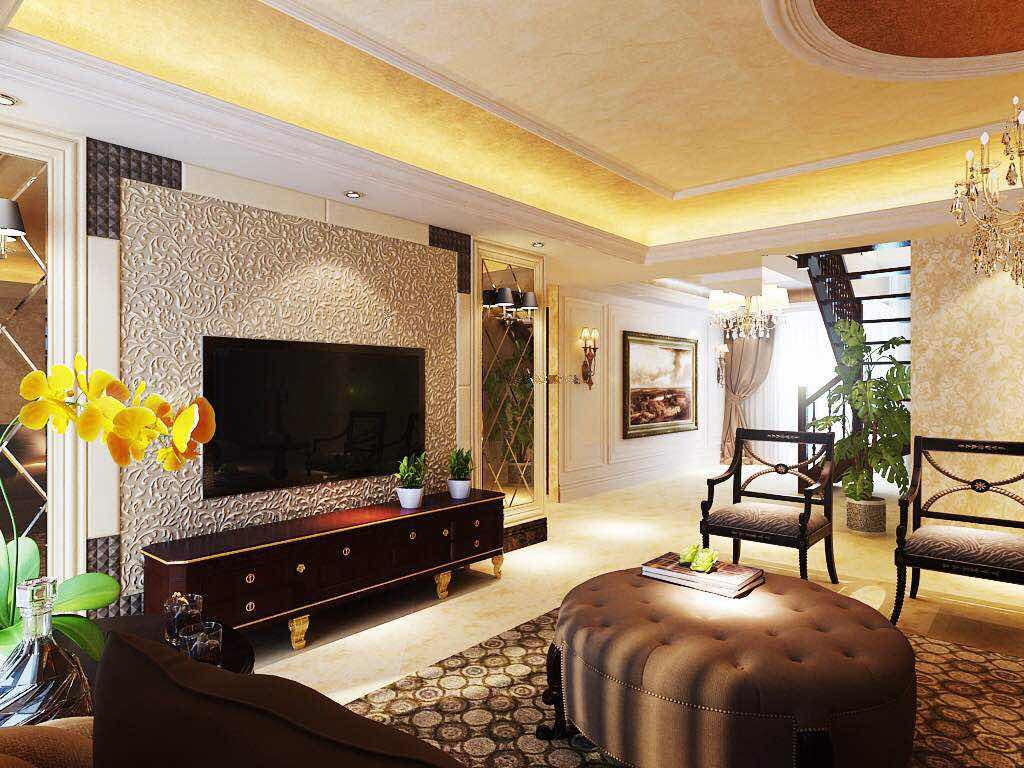 简欧风格 三居室装修 毛坯房设计 欧式装修 客厅图片来自小户型装修案例在欧式风格案例的分享