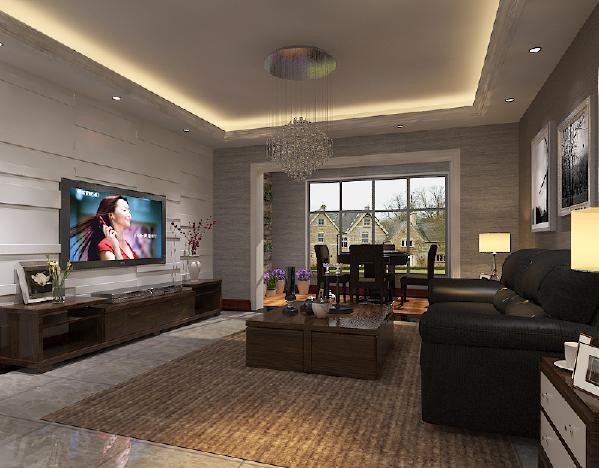 设计理念:沉稳的家具颜色搭配沉稳的墙面颜色,使空间更整体
