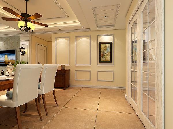 合肥实创装饰—保利拉菲公馆—136平米—四居室—美式—餐厅装修效果图