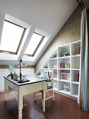 地中海 三居 跃层 loft 旧房改造 收纳 书房图片来自沙漠雪雨在120平米loft地中海童话世界的分享