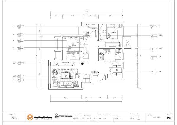首先进入入户门按顺时针走的左手边是客厅的位置,客厅宽敞明亮给人一舒适的感觉。而后是一个带有大飘窗的主卧的位置,往里走是卫生间。
