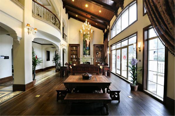 御翠园别墅装修中式风格设计完工案例实景展示,上海腾龙别墅设计师任云龙作品,欢迎品鉴!