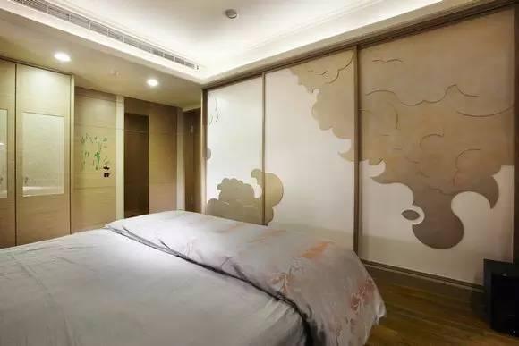 PART5:卧室设计、儿童房设计 装修TIPS:合宜的色彩浓淡度,以及衣柜形似云朵的造型,让睡眠场域更有令人放松的气氛。
