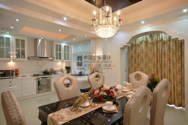 新古典风格 别墅 餐厅图片来自申远-小申在南郊别墅(新古典)的分享