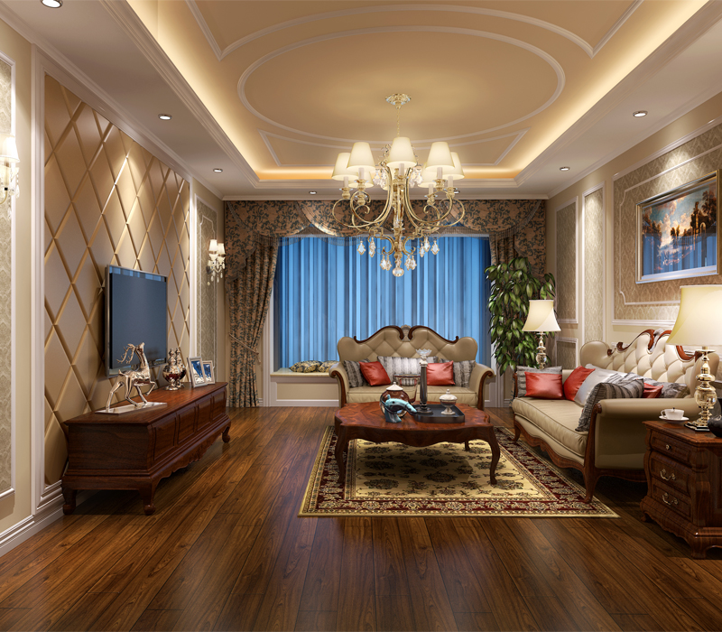 客厅图片来自蔷薇朵朵-粒儿在欧美风格的万年花城的分享