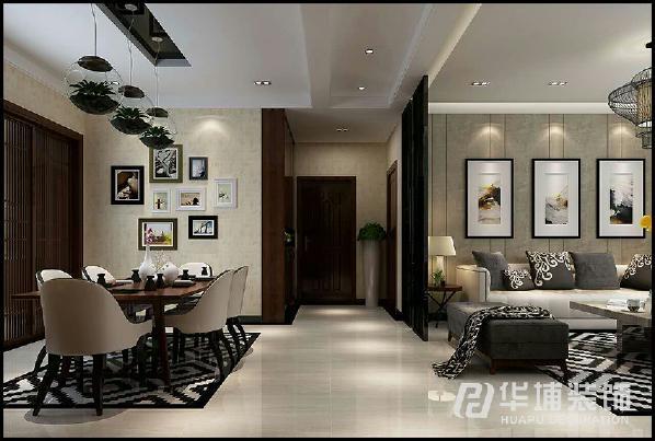 客厅侧面选用整体的不锈钢隔断,放弃了传统的雕花木制隔断,首先是为了追求材料的耐用性,其次是追求整体风格的统一性。