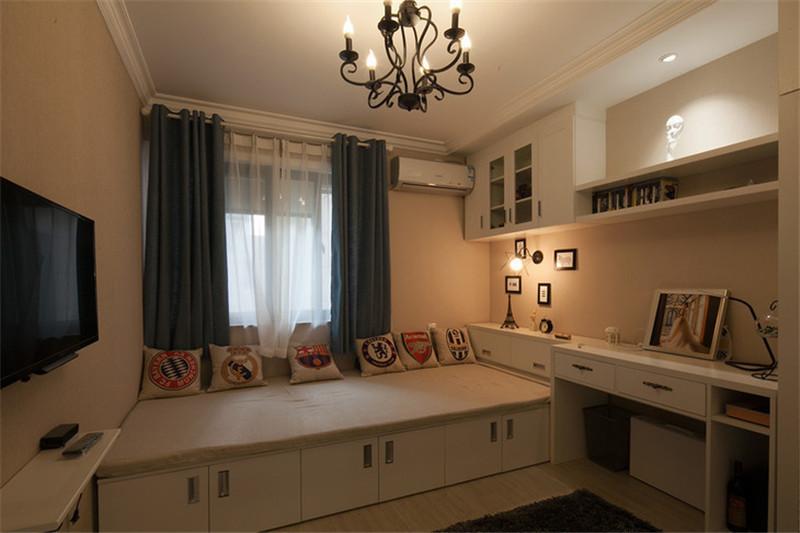 混搭风格 两居室 福尚装饰 西安装修 装修公司 卧室图片来自西安福尚装饰家装体验馆在中贸广场两居混搭风格的分享