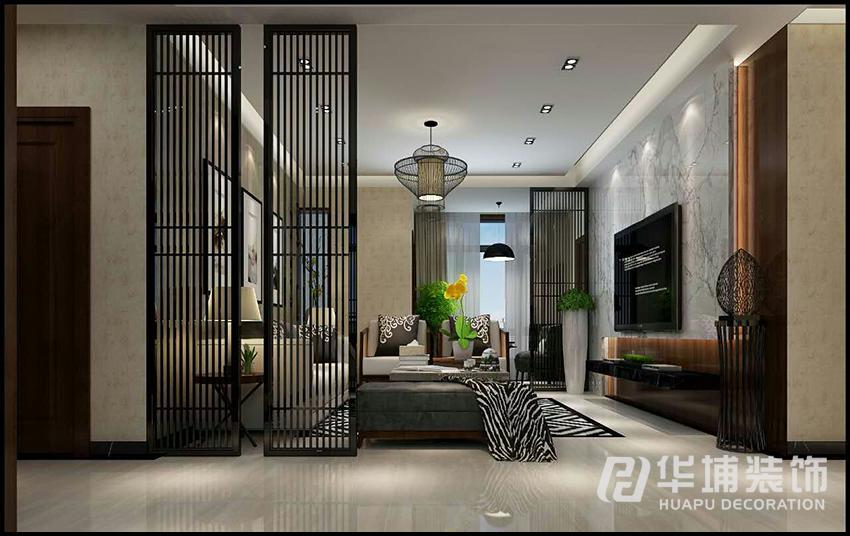 新中式 四居 白领 小资 客厅 客厅图片来自上海华埔装饰-laird在农大家属院170平新中式效果图的分享