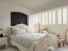 悠闲 舒适 地中海 两居 装修 卧室图片来自北京合建高东雪在94平地中海蔚蓝两居的分享