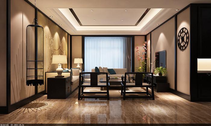 80后 中式 客厅图片来自日升装饰公司在华侨城·天鹅堡163平米中式的分享