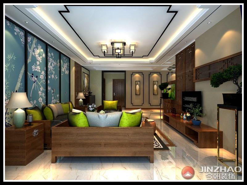 中式 客厅图片来自阿布的小茅屋15034052435在昌盛双喜城190平米--新中式的分享