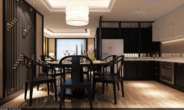 80后 中式 餐厅图片来自日升装饰公司在华侨城·天鹅堡163平米中式的分享